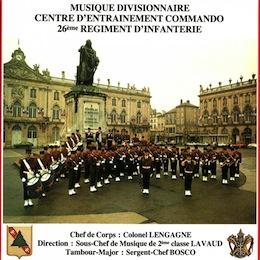 MUSIQUE DIVISIONNAIRE CENTRE D'ENTRAINEMENT COMMANDO 26ÈME R.I.