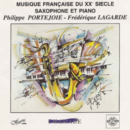 MUSIQUE FRANCAISE  DU XX° SIÈCLE POUR PIANO ET SAXO
